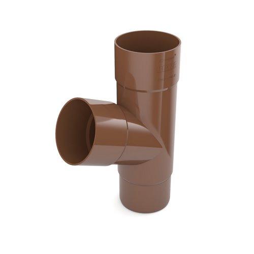 Трійник BRYZA коричневий 90/90/90 мм
