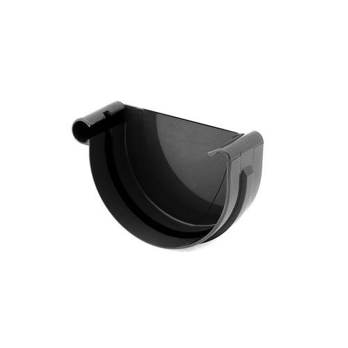 Заглушка ринви ліва BRYZA чорна 125 мм