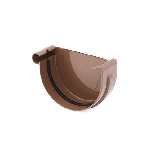 Заглушка ринви ліва BRYZA коричнева 125 мм