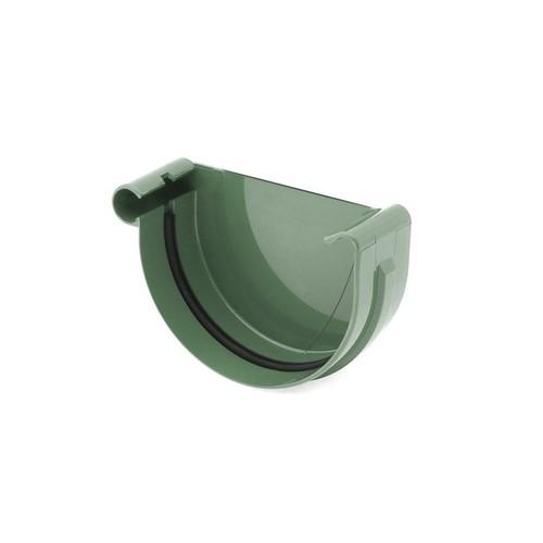 Заглушка ринви ліва BRYZA зелена 125 мм