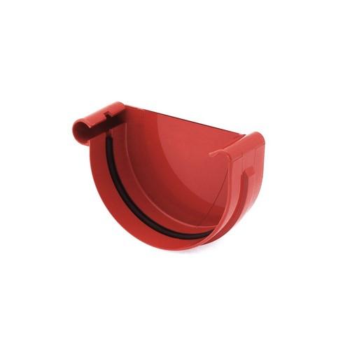 Заглушка ринви ліва BRYZA червона 125 мм