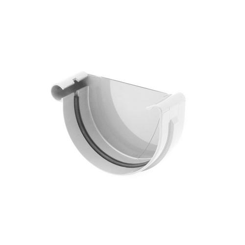 Заглушка ринви ліва BRYZA біла 125 мм