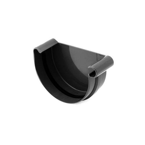 Заглушка ринви права BRYZA чорна 125 мм