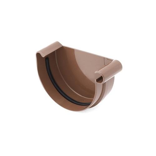 Заглушка ринви права BRYZA коричнева 125 мм