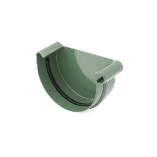 Заглушка ринви права BRYZA зелена 125 мм