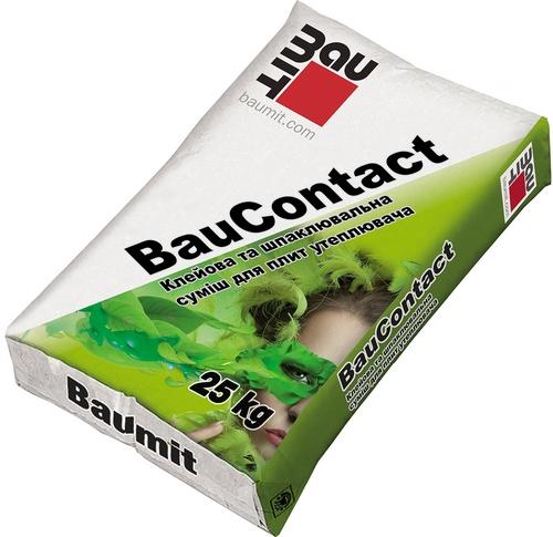 Бауміт (Baumit) Клейова шпаклювальна суміш для плит  Bau Contact 25 кг
