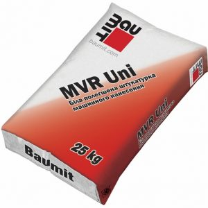 Штукатурка Бауміт (Baumit) цементно-вапняна полегшена MVR Uni 25 кг