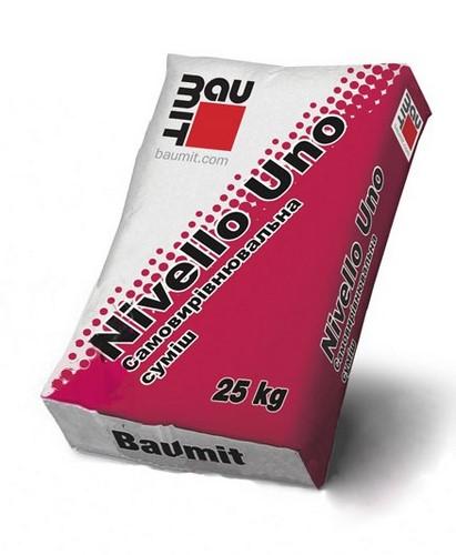 Стяжка Бауміт (Baumit) самовирівнювальна Nivello Uno 25 кг