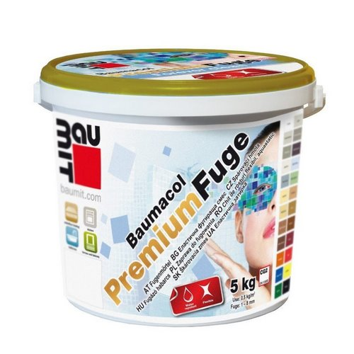 Затирка Бауміт (Baumit) PremiumFuge бермуда-димчастий 2 кг
