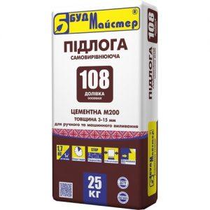 Стяжка БудМайстер ДОЛІВКА-108 самовирівнююча цементна 25 кг