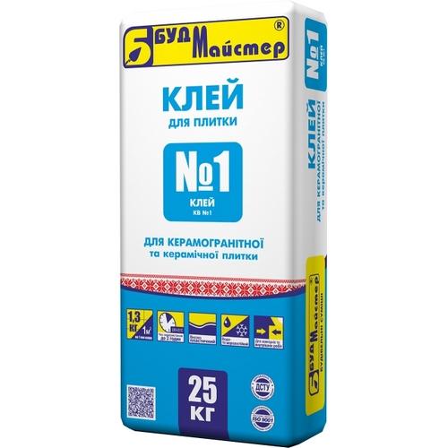 Клей БудМайстер КЛЕЙ-№1 для керамограніту 25 кг