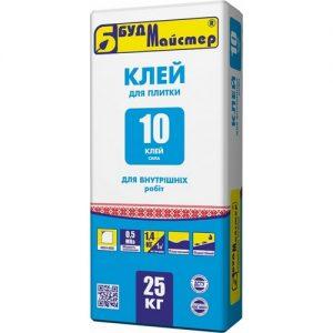 Стяжка  БудМайстер ДОЛІВКА-10 цементна 25 кг
