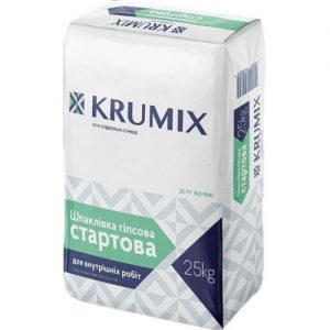 Шпаклівка гіпсова Крумікс (Krumix) стартова 25 кг