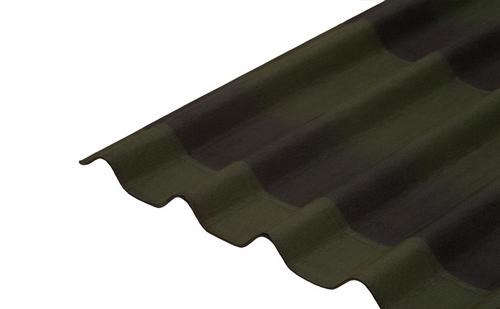 Бітумна лист черепиці Ондулін (Onduline) зелений 2000*950 мм