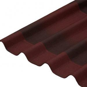 Бітумна лист черепиці Ондулін (Onduline) червоний 2000*950 мм