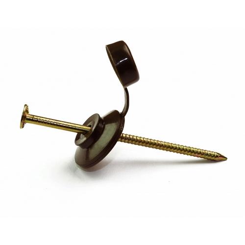 Цвяхи для бітумної черепиці (Ондулін) WAWE 3,2х70 мм коричневі (100 шт)