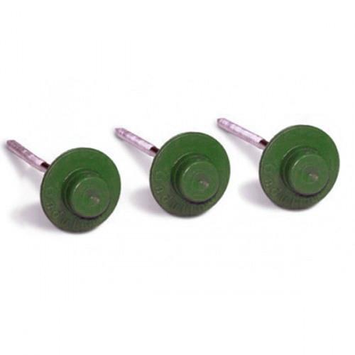Цвяхи для бітумної черепиці Ондулін (Onduline) 3,55х75 мм зелені (20 шт)