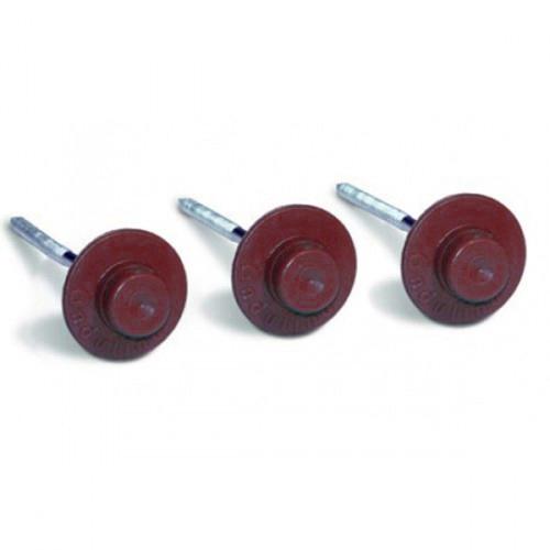 Цвяхи для бітумної черепиці Ондулін (Onduline) 3,55х75 мм червоні (20 шт)