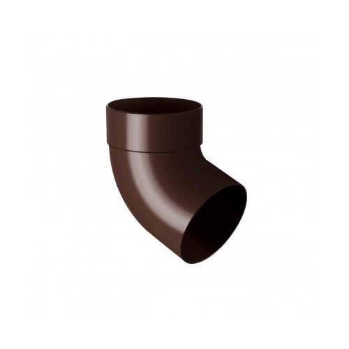 Коліно RainWay одномуфтове 67 коричневий 100 мм