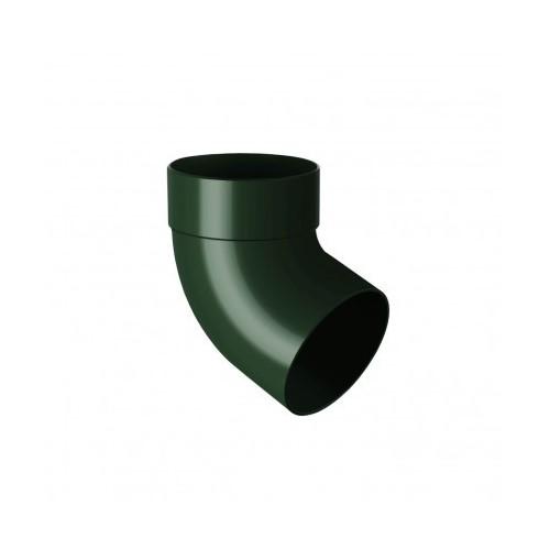 Коліно RainWay одномуфтове 67 зелений 100 мм