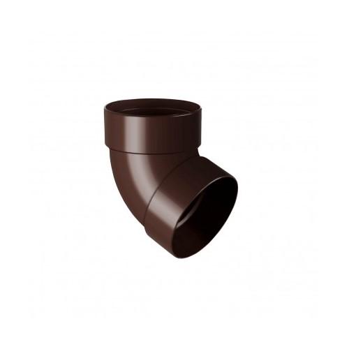 Коліно RainWay двомуфтове 67 коричневий 100 мм