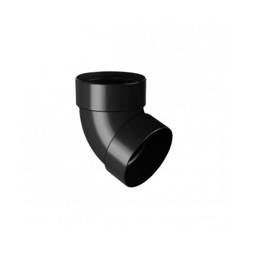 Коліно RainWay двомуфтове 67 графітовий 100 мм