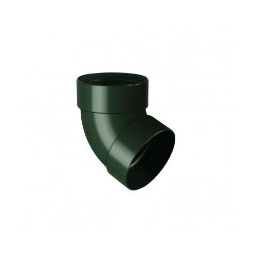 Коліно RainWay двомуфтове 67 зелений 100 мм