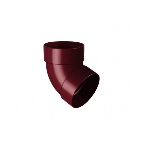 Коліно RainWay двомуфтове 67 червоний 100 мм