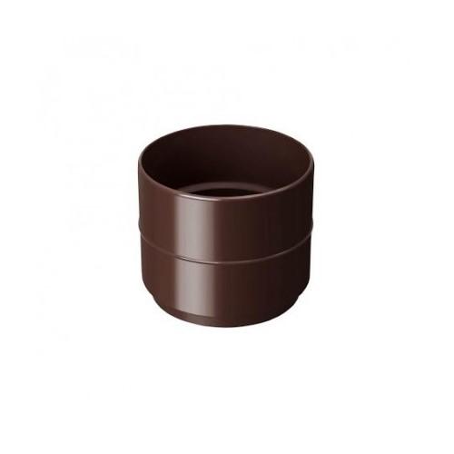 Муфта труби RainWay коричнева 100 мм