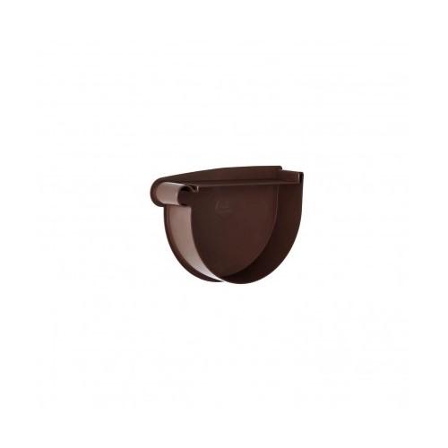 Заглушка лійки ліва RainWay коричнева 130 мм