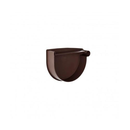 Заглушка лійки права  RainWay  коричнева 130 мм