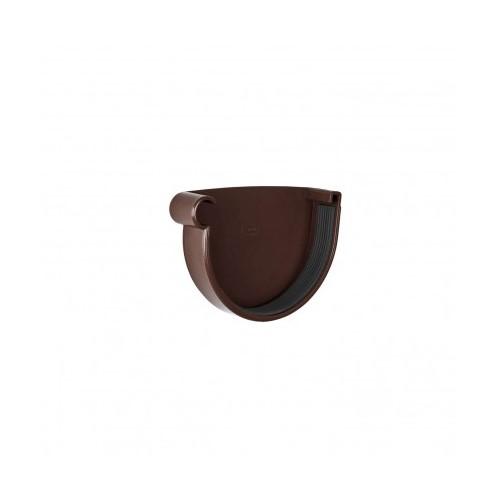 Заглушка ринви ліва  RainWay коричнева 130 мм