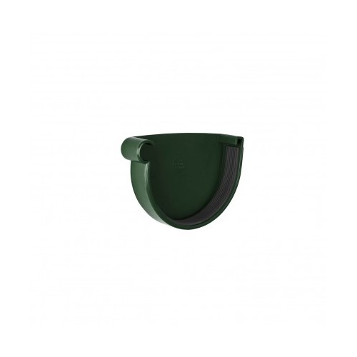 Заглушка ринви ліва  RainWay зелена 130 мм