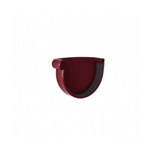 Заглушка ринви ліва  RainWay червона 130 мм