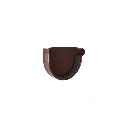 Заглушка ринви права RainWay коричнева 130 мм