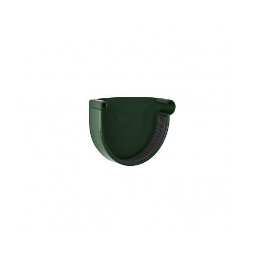 Заглушка ринви права RainWay  зелена 130 мм