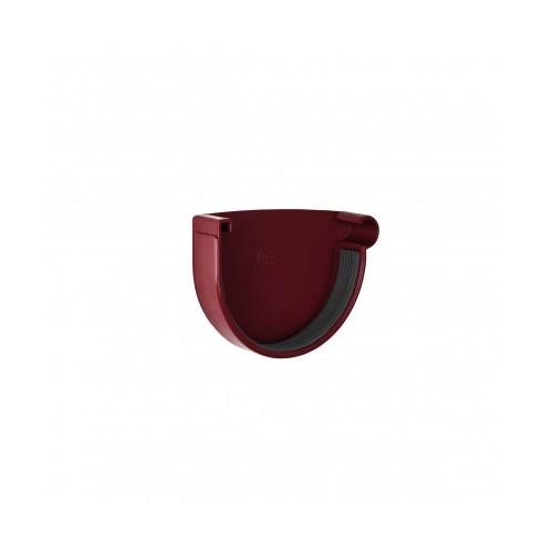 Заглушка ринви права RainWay  червона 130 мм