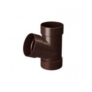 Трійник RainWay 67 коричневий 100 мм