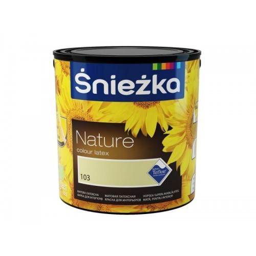 Фарба Снєжка (Sniezka) NATURE латексна №167 сріблястий клен 2,5 л