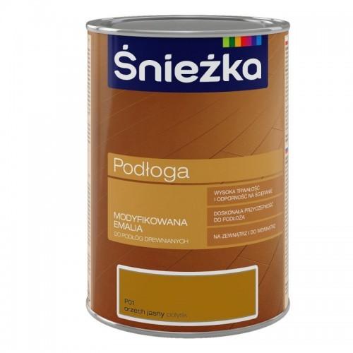 Емаль Снєжка (Sniezka) для дерев'яної підлоги P01 світлий горіх 1000 мл