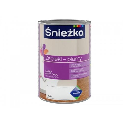 Фарба Снєжка (Sniezka) PLAMY акрилова фарба для слідів від протікання та плям 0,4 л