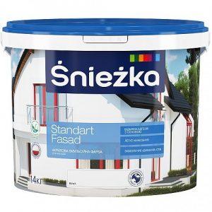 Фарба Снєжка (Sniezka) акрилова фасадна Стандарт фасад 1 л