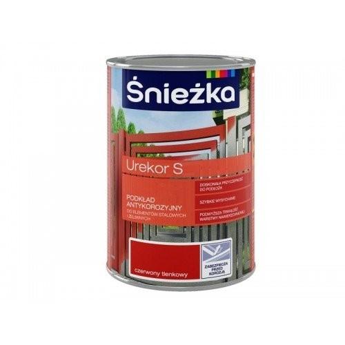 Грунтовка Снєжка (Sniezka) Urekor S антикорозійна блідо-червона 1 л