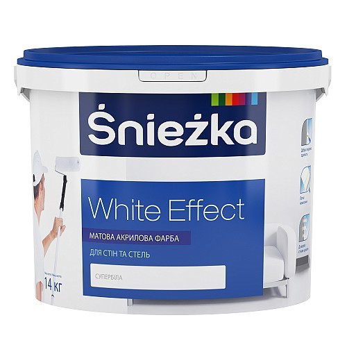 Фарба Снєжка (Sniezka) WHITE EFFECT акрилова 10 л