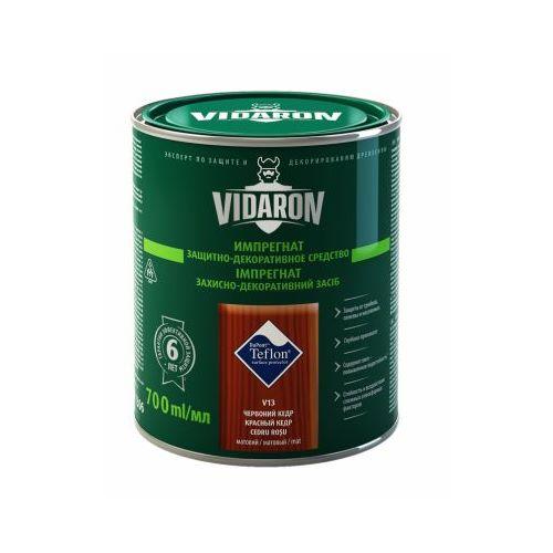 Імпрегнат захисно-декоративний Відарон (Vidaron) V16 антрацит сірий матовий  700 мл
