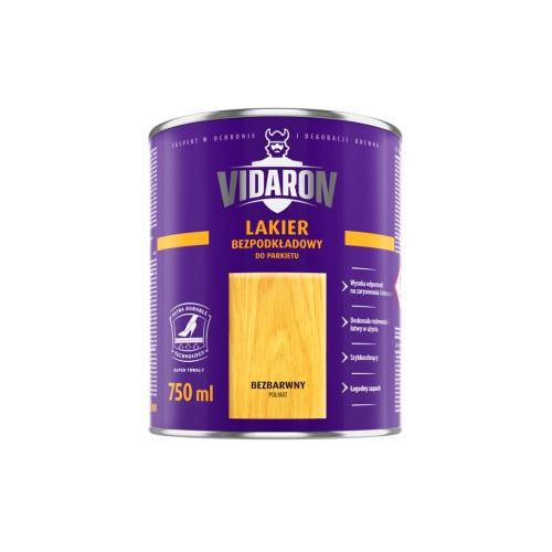 Лак Відарон (Vidaron) для паркету безбарвний глянець 2,5 л