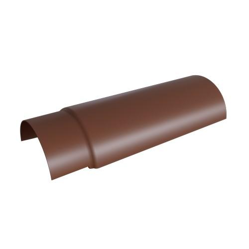 Деталь спрощена реброва волокнистоцементна СР 650*150 коричнева