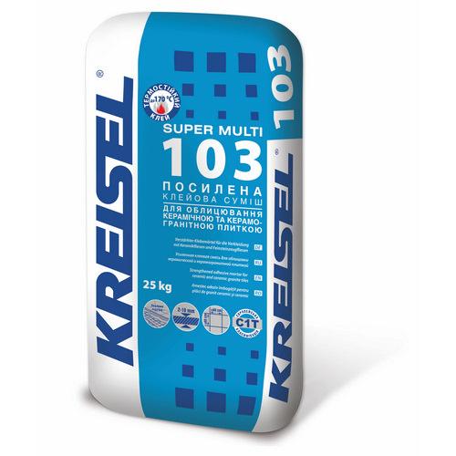 Клей Крайзель (Kreisel) 103 для плитки та штучного каменю Super-Multi 25 кг