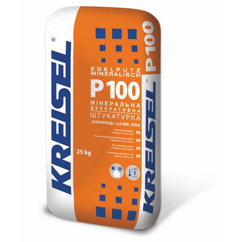 Штукатурка Крайзель (Kreisel) Р100 декоративна мінеральна баранець 2,0 мм 25 кг