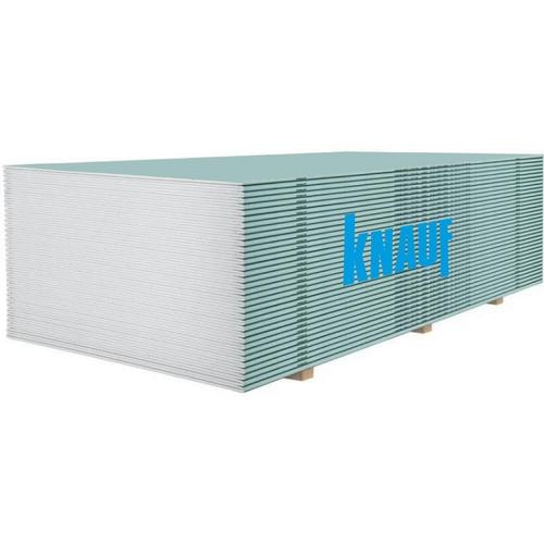Гіпсокартон Кнауф (Knauf) вологостійкий 2500х1200х9.5 мм